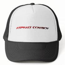 Asphalt Cowboy Red Name Line 1 Trucker Hat