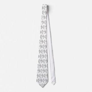 Asphalt Cowboy Tiled Logo Necktie