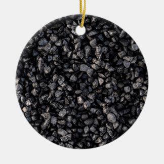 Asphalt Gravel Ceramic Ornament