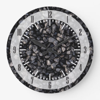 Asphalt Gravel Large Clock