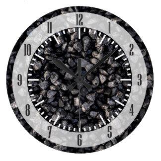 Asphalt Gravel Large Clock
