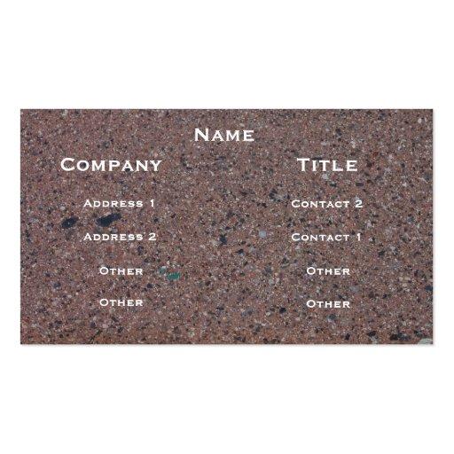 Asphalt Image Profile Card Business Cards