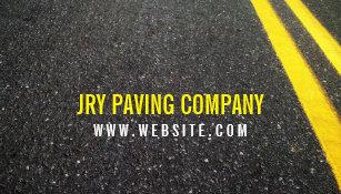 Asphalt business cards templates zazzle asphalt paving construction roadwork business card colourmoves