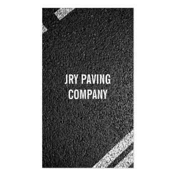 Asphalt, Paving, Construction, Roadwork Business Card Template