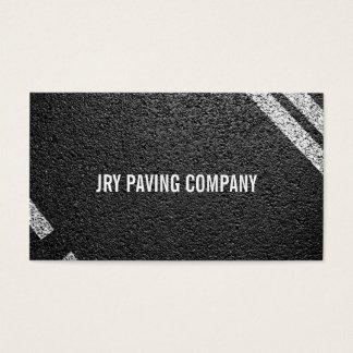 Asphalt, Paving, Construction, Roadwork Business Card