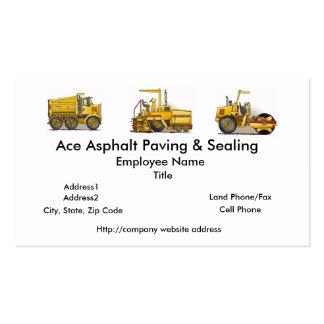 Asphalt Paving Machine Construction Business Cards