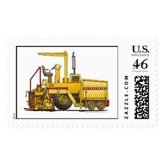 Asphalt Paving Machine Construction Stamps