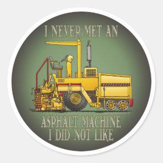 Asphalt Paving Machine Operator Quote Kids Sticker