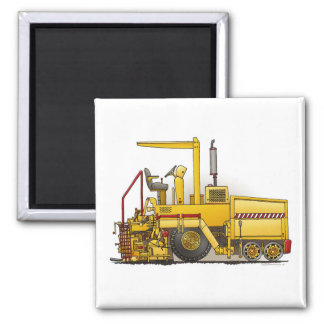 Asphalt Paving Machine Square Magnet