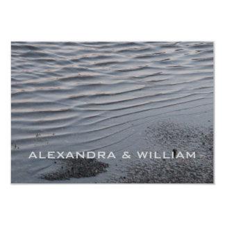 Asphalt Puddle Silver Gray Urban Art Water Frugal 3.5x5 Paper Invitation Card