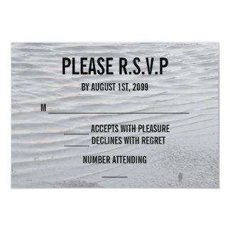 Asphalt Puddle Silver Gray Urban Art Water Sleek 3.5x5 Paper Invitation Card