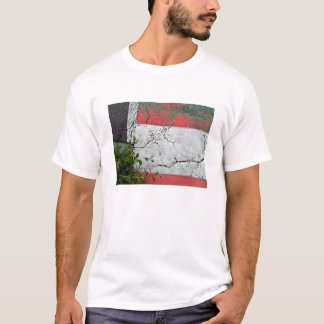 Asphalt road with white and red bars T-Shirt