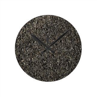 Asphalt Round Clock