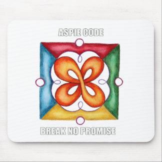 Aspie Code - Break No Promise Mouse Pad