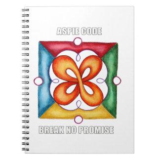 Aspie Code - Break No Promise Spiral Note Book