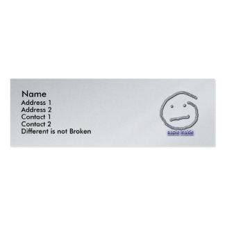 Aspie dentro de la plantilla de la tarjeta del per plantilla de tarjeta personal