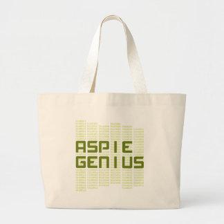 Aspie Genius - Computers Large Tote Bag