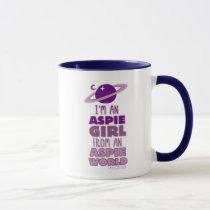 Aspie girl from an Aspie World mug