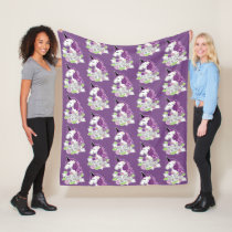 Aspie Girls are Magical fleece blanket