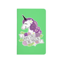 Aspie Girls are Magical unicorn notebook