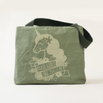 Aspie Girls Are Magical unicorn tote