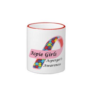 Aspie Girls Ringer Coffee Mug