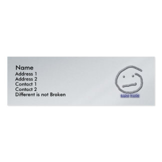 Aspie Inside Profile Card Template Business Card Template