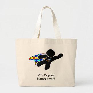 Aspie Superpower Large Tote Bag