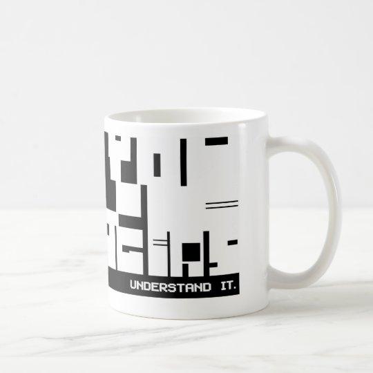 Aspie Techie Coffee Mug - Coded message!