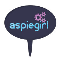 Aspiegirl Woman with Aspergers Cake Topper