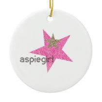 Aspiegirl Woman with Aspergers Ceramic Ornament