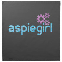 Aspiegirl Woman with Aspergers Cloth Napkin