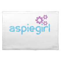 Aspiegirl Woman with Aspergers Cloth Placemat