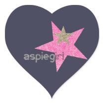 Aspiegirl Woman with Aspergers Heart Sticker