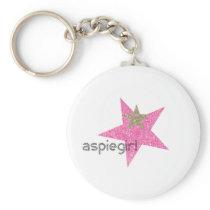 Aspiegirl Woman with Aspergers Keychain