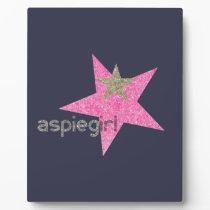 Aspiegirl Woman with Aspergers Plaque