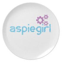 Aspiegirl Woman with Aspergers Plate