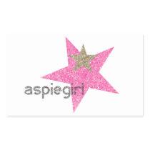 Aspiegirl Woman with Aspergers Rectangular Sticker