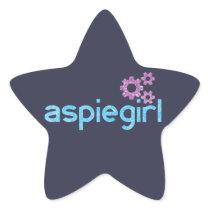 Aspiegirl Woman with Aspergers Star Sticker