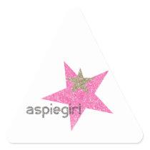 Aspiegirl Woman with Aspergers Triangle Sticker