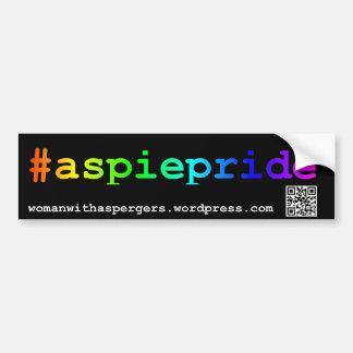 #aspiepride Bumper Sticker Car Bumper Sticker