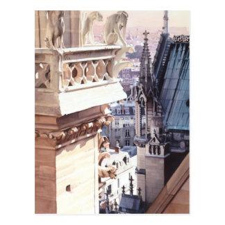 """""""Aspira"""" la acuarela de la iglesia de la arquitect Tarjetas Postales"""
