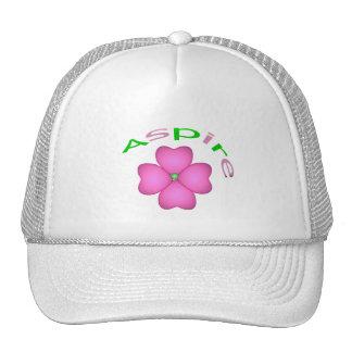 Aspira la flor gorros