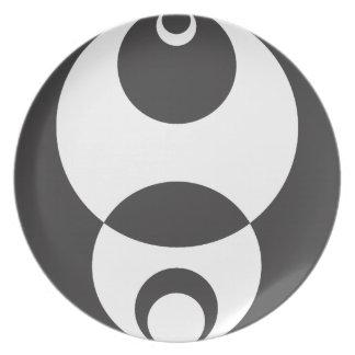 Aspiración de la esfera platos para fiestas