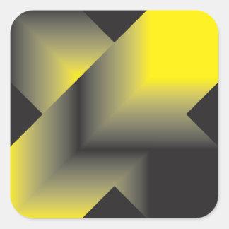 Aspiración de negro al amarillo calcomanía cuadradase
