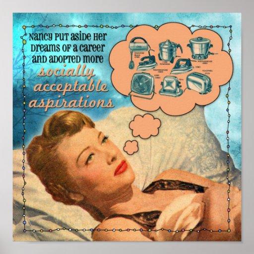 Aspiraciones socialmente aceptables póster