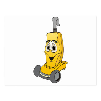 Aspirador amarillo postales