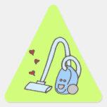 Aspirador con los corazones calcomania trianguladas personalizadas