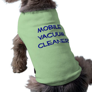 Aspirador móvil playera sin mangas para perro