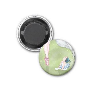 Aspiration Devil & Angel Ballerina 1 Inch Round Magnet